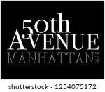 50 th avenue manhattan in new... | Shutterstock .eps vector #1254075172