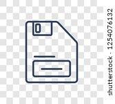 floppy disk upside down icon.... | Shutterstock .eps vector #1254076132