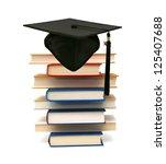 a graduating degree in school... | Shutterstock . vector #125407688