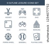 leisure icons. trendy 9 leisure ... | Shutterstock .eps vector #1254077752