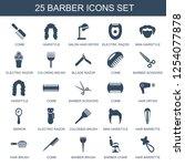 barber icons. trendy 25 barber... | Shutterstock .eps vector #1254077878