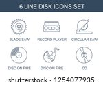 disk icons. trendy 6 disk icons.... | Shutterstock .eps vector #1254077935