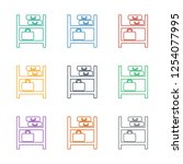 luggage storage icon white...   Shutterstock .eps vector #1254077995