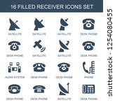 16 receiver icons. trendy... | Shutterstock .eps vector #1254080455