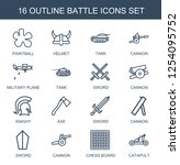 16 battle icons. trendy battle... | Shutterstock .eps vector #1254095752