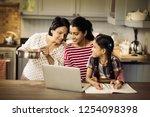 multi generation family using... | Shutterstock . vector #1254098398