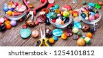 jewelry making and beading... | Shutterstock . vector #1254101812