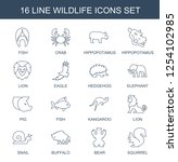 wildlife icons. trendy 16... | Shutterstock .eps vector #1254102985