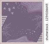 beautiful purple scarf design | Shutterstock .eps vector #1254106645