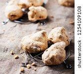 traditional piedmont cookies  ... | Shutterstock . vector #1254109108