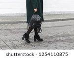 women's legs. woman wearing... | Shutterstock . vector #1254110875