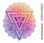 triangle composition with... | Shutterstock .eps vector #1254115015