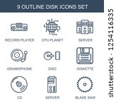 disk icons. trendy 9 disk icons.... | Shutterstock .eps vector #1254116335