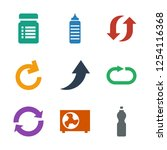 refresh icons. trendy 9 refresh ... | Shutterstock .eps vector #1254116368
