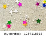beautiful silver holiday... | Shutterstock . vector #1254118918