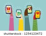 vector illustration of mobile... | Shutterstock .eps vector #1254123472