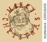 merry christmas santa vintage... | Shutterstock .eps vector #1254126232