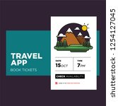 travel app with hills mountains ...