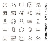 message icon set. collection of ...   Shutterstock .eps vector #1254141358