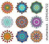 colorful mandala ornament...   Shutterstock .eps vector #1254146722
