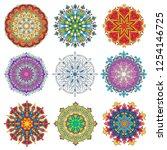 colorful mandala ornament...   Shutterstock .eps vector #1254146725