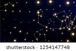constellation map. astronomical ... | Shutterstock .eps vector #1254147748