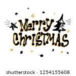 merry christmas illustration... | Shutterstock .eps vector #1254155608