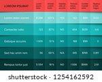 multipurpose table layout... | Shutterstock .eps vector #1254162592