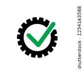 cog check icon. check mark in... | Shutterstock .eps vector #1254163588