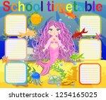 school timetable template for... | Shutterstock .eps vector #1254165025