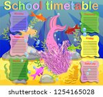 timetable with days of weeks... | Shutterstock .eps vector #1254165028