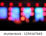 blur background of concert... | Shutterstock . vector #1254167665