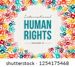 international human rights day... | Shutterstock .eps vector #1254175468