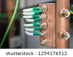 ground electric cables with... | Shutterstock . vector #1254176512
