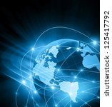 best internet concept of global ... | Shutterstock . vector #125417792