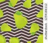 seamless pattern with pears and ... | Shutterstock .eps vector #1254186112