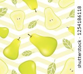 seamless pattern with pears and ...   Shutterstock .eps vector #1254186118