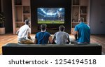 group of students are watching...   Shutterstock . vector #1254194518