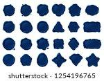 vector vintage isolated wax... | Shutterstock .eps vector #1254196765