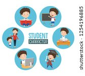vector illustration of student... | Shutterstock .eps vector #1254196885