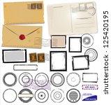 set of post stamp symbols ...   Shutterstock .eps vector #125420195