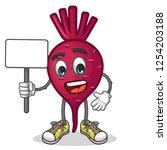 stock vector of cute red beet...   Shutterstock .eps vector #1254203188