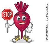 stock vector of cute red beet...   Shutterstock .eps vector #1254203212