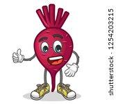 stock vector of cute red beet...   Shutterstock .eps vector #1254203215