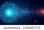 abstract technology background  ... | Shutterstock .eps vector #1254207172