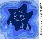 winter decorative background.... | Shutterstock .eps vector #1254209062