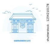 kaminarimon gate blue landmark. ... | Shutterstock .eps vector #1254210178