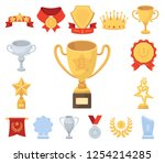 awards and trophies cartoon... | Shutterstock .eps vector #1254214285