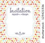 cute invitation template for...   Shutterstock .eps vector #125421536