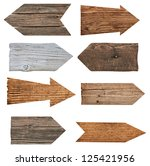 collection of various  empty... | Shutterstock . vector #125421956